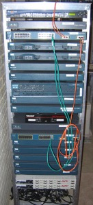 CCIE Lab Rack Front