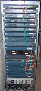 CCIE Lab Rack Front