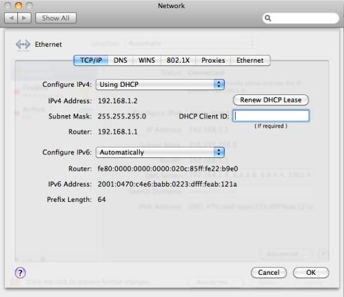 OSX Advanced Network Screenshot