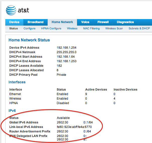 Enabling IPv6 On My Home Network Part 2 AT&T | Rolande's